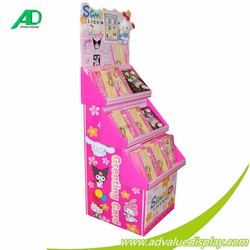 magazine carton pallet display/paperboard pallet display/book pallet display rack