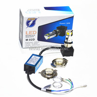 New 360 degree three side10-30V 30W 3000L Mmotorcycle headlight led headlight USA CREE led fog light motorcycle driving light