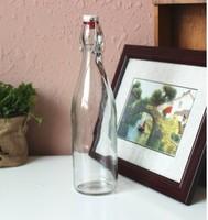 free custom clear 500ml beer bottle with flip top