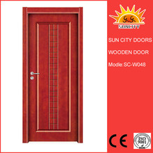 China wrought iron house wooden designs main gate colors SC-W048