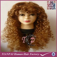 Curly Intense Africa American Wigs, Afro Kinky Blonde Synthetic Wigs, Long Afro Wig
