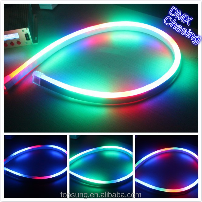 new dmx 512 chasing rgb led neon lighting ribbon for outdoor christmas