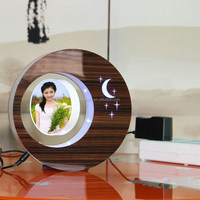 LED suspending in the air magnetic levitation photo frame islamic gift