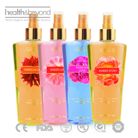 Ladies fragrance sexy body mist spray