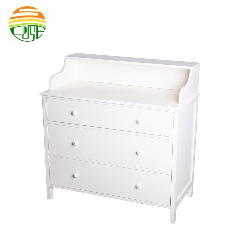 Пользовательские Autique дизайн белый деревянный макияж хранения стол шкаф комод с ящиками