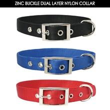 Dual Layer Nylon Webbing Dog Collars and Nylon Leash Harness