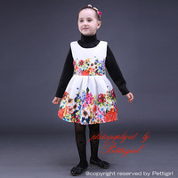 Wholesale Baby Girl Flower Dress Fashion Floral Girls Dresses For Little Baby Holiday Party Clothing Kids Wear GD80928-22