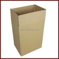 cheap brown kraft B3B corrugated carton paper box without printing