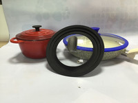 Cookware silicone glass lid with knob/silicone glass cover