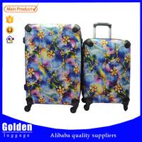 Unique design suitcase PP material suitcase aluminum trolley suitcase