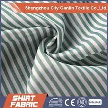 polyester shirting fabric for man shirting stripe