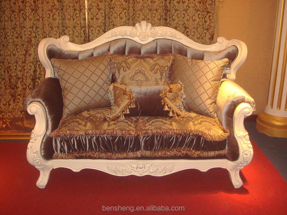 S2130 foshan shunde muebles sofá tallado a mano de madera de ...