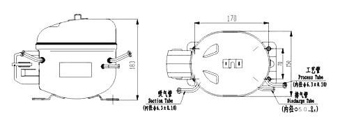 RSIR/RSCR/CSIR Motor Freezer Compressor XT50H Manufacture