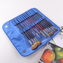lungo manico in legno buon assortimento di arte pennelli con multi colore nylon taklon sintetico lungo manico in legno