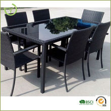 2015 New designed wicker dining table and chair set