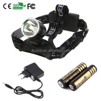 xml t6 Led headlamp Rechargeable Headlight For Camping Hiking Hunting Zoom Head Light Lamp +18650 4000MAH battery with charger