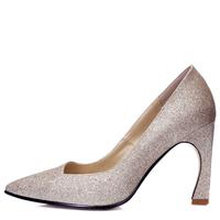 JUSHEE 2016 Fashion Rhinestone Glitter Women Sexy high heels Pumps with Pointed Toe Wedding Shoes