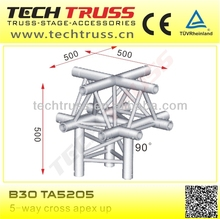 B30-TA5205 length 500mm 5-way square space truss corner for setting up truss