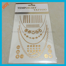 fashion jewelry 2015 temporary tattoo sticker for body