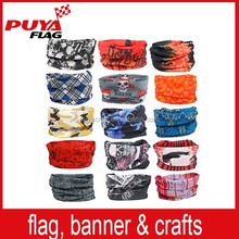 100% microfiber polyester multifunctional magic bandana/dye sublimation custom tube bandana stretchy headbands/seamless bandana