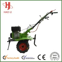 Small Size 9HP 6300W Mini Tractor with Plow