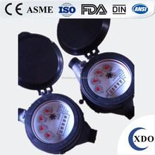 Factory Price Multi Jet Dry Dial Nylon Plastic Water Meter, PN 16 Class B Pulse Water Meter
