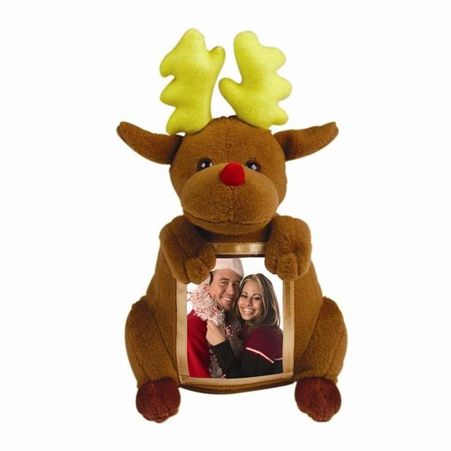 plush reindeer toys photo frame