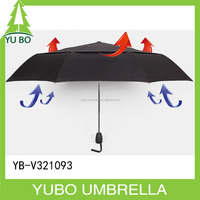 "21"" strong stormproof air vents 3 fold auto open and close umbrella"