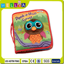 Wholesale educational soft toy lamaze cloth book