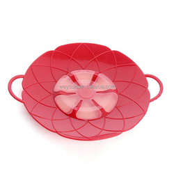 Multi-function Silicone lid Spill Stopper Silicone Cover Lid Flower Cookware Parts 26+2cm