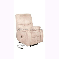 Luxurious leather electric sofa recliner with dense padded seat