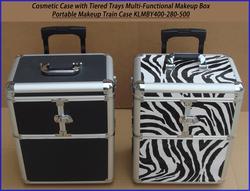Professional Aluminum Cosmetic/makeup Trolley Case