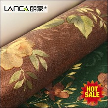 Lanca large traditional country glod flower wallpaper glue for bedroom walls