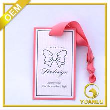 Custom cheap colorful logo silk screen printing hang tags
