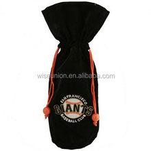 brand names printable customising velvet wine bottle bag