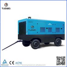 424cfm high pressure automotive screw type portable compressed air