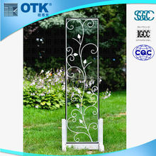 hot selling forge wrought iron interior glass door
