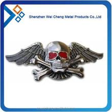 custom shaped enamel skull pin badge