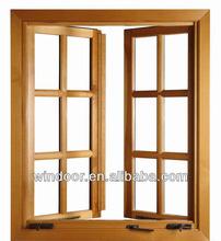 Qingdao Grill Design Aluminum Clad Wood Window