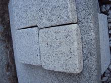 Chinese cheap white granite G603 Sesame White tumbled surface and granite stairs