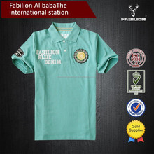 100% Cotton Embroidered patch boys shirt Comfortable and Breathable Men's Polo Shirt