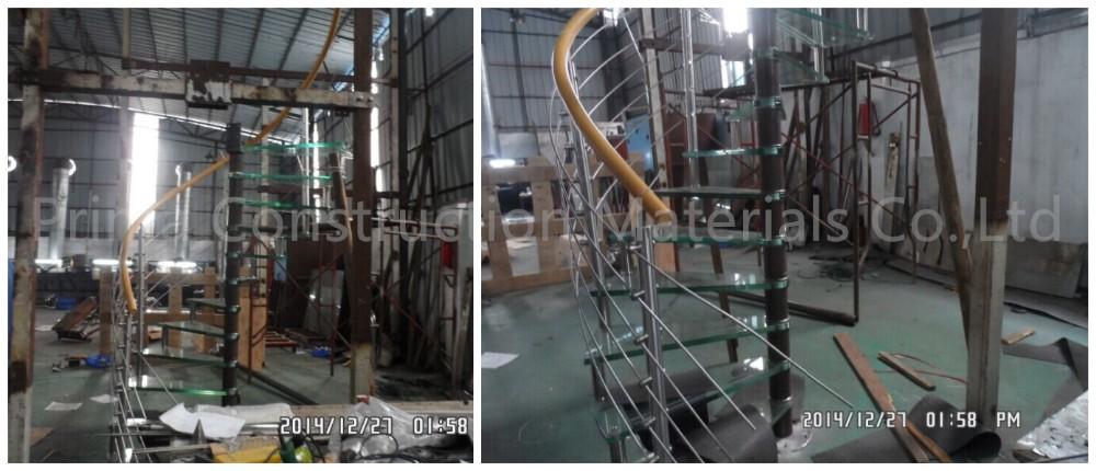 DIY instalación escalera de caracol de acero diseño de interior ...