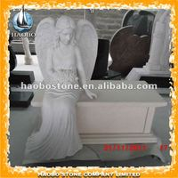 angel carving headstone bench