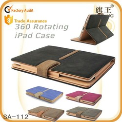 New style Leather Smart Cover 360 Case for Apple iPad 2 3 4 Air 2 mini