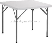 Cheap White Plastic Folding Table (blow mould, HDPE, outdoor, banquet, camping)