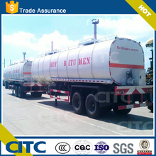3 axles liquid asphalt/bitument tank truck/semi trailer with heat preservation system high quality CITC brand
