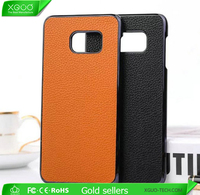 Hottest litchee pattern leather case for Samsung note 5 edge