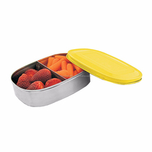 Stainless Steel Food Container with Divider, Rectangular Kids Stainless Steel Lunch Box,Vacuum Insulated Food Jar cup