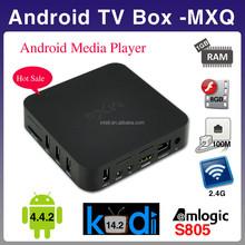 Free android download google play store MXQ box MXQ amlogic s805 ott tv box