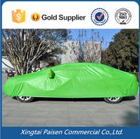 low price PEVA waterproof auto car vehicle cover for sun/ snow/ frost/ rain/ sunshine/plastic car cover